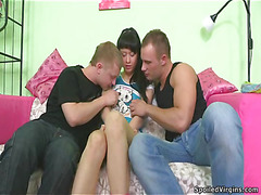 Neat nice-looking hotty oraljobs guy and receives drilled by him