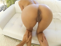 Tan girl acquires drilled