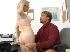 Depraved schoolgirl rides a hard rod of her teacher
